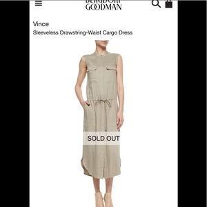 Vince Sleeveless Cargo Dress